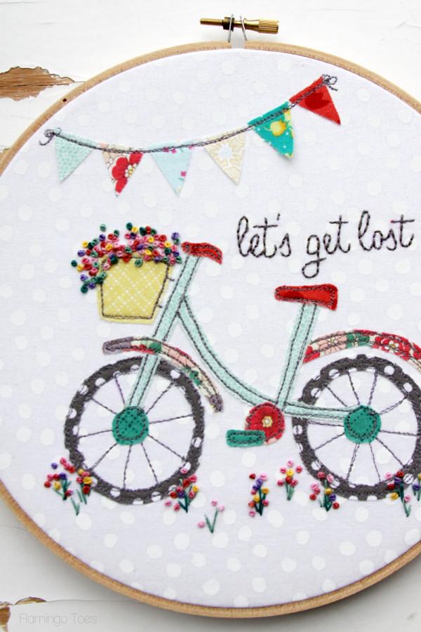 Floral-Bicycle-Embroidery-Hoop-600x900