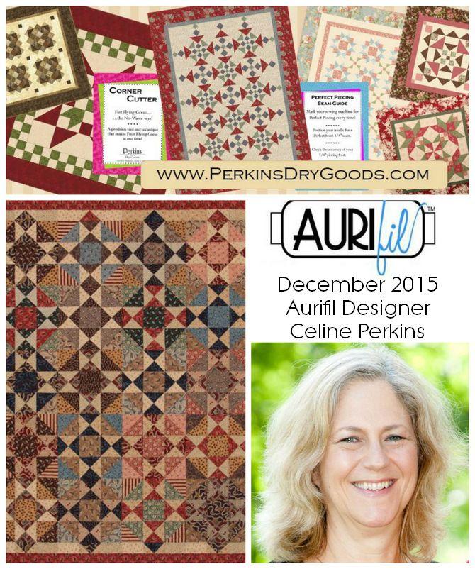 Aurifil 2015 Celine Perkins Dec designers logo