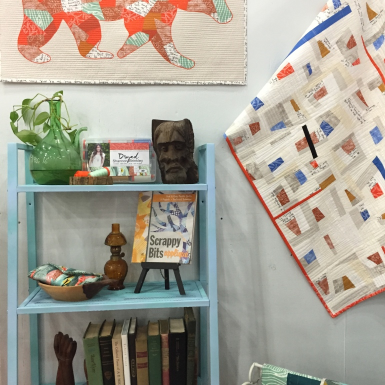 Shannon's booth at the International Quilt Market in Houston last Fall