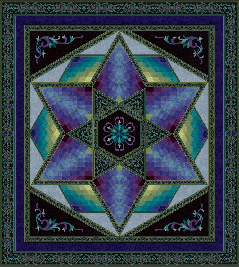 Jinny's Caliope Teal Quilt