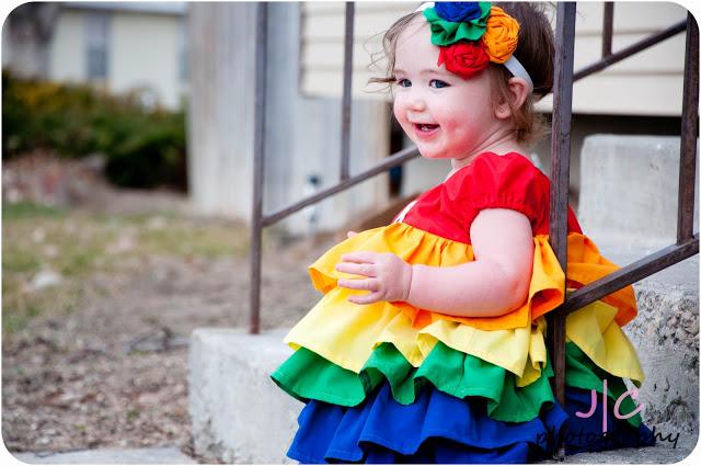 rainbowruffledress