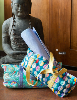 Yoga Zipper Bag by Bonnie Bobman