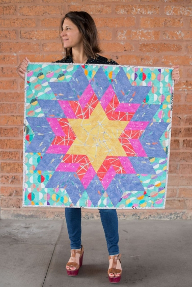 Glimmer Story Wall Quilt by Verena Ehrhardt