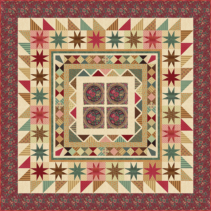 Moda Collection for a Cause Preservation  Quilt (100x100)