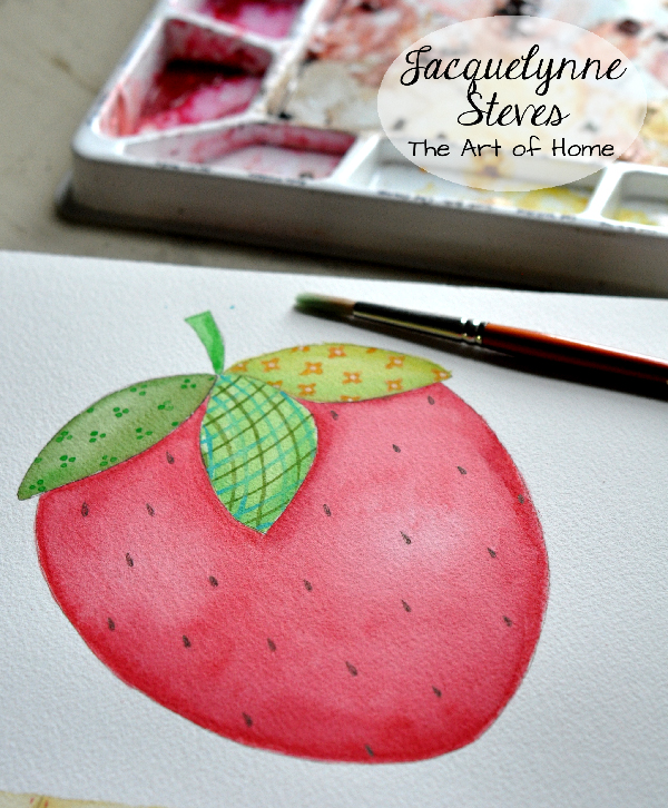 3b-Strawberry Art- Jacquelynne Steves
