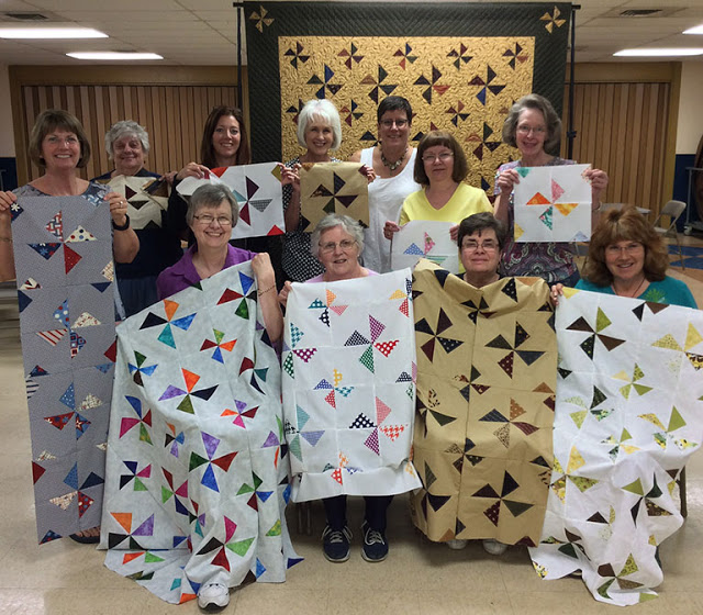 Lynne and members of the Gems of the Prairie Quilt Guild in Peoria, IL.
