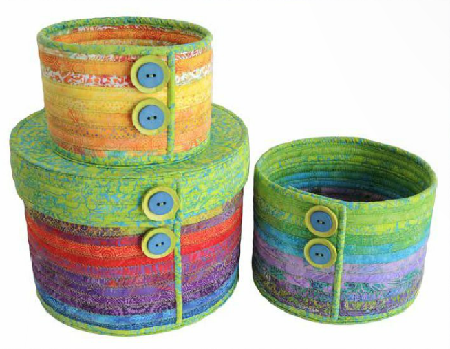 Camden Bowls by Aunties Two Patterns using fabrics from Surf Squirt