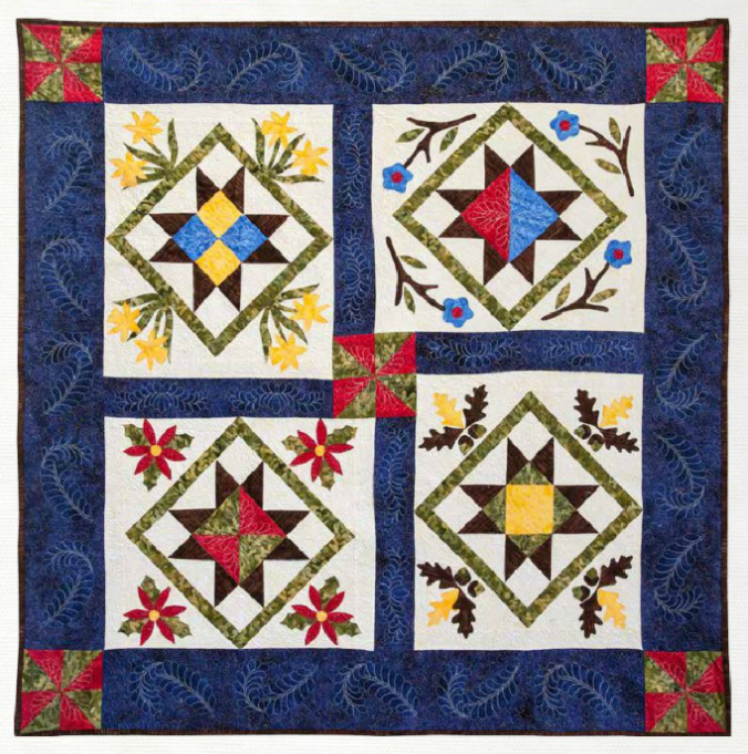 Four Seasons by Thimble N Thread using fabrics from Equinox