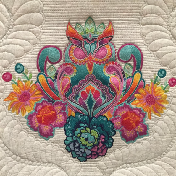 Stunning Machine Embroidery by Casey Taylor using threads from The Ultimate Collection
