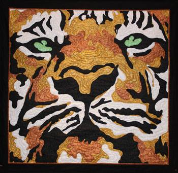 Bengal Tiger Quilt by Rob Appell