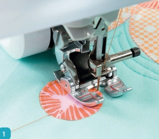 Appliquéing and Quilting Combined