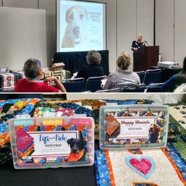 Nan Baker of Quilter Pattern Magazine and the Kennel Quilts Initiative presents + new thread collections showcased