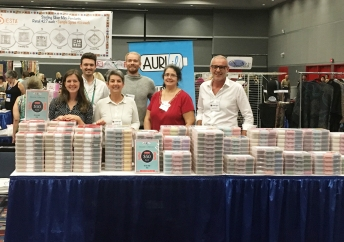 The Aurifil Team, ready for sample spree to begin!