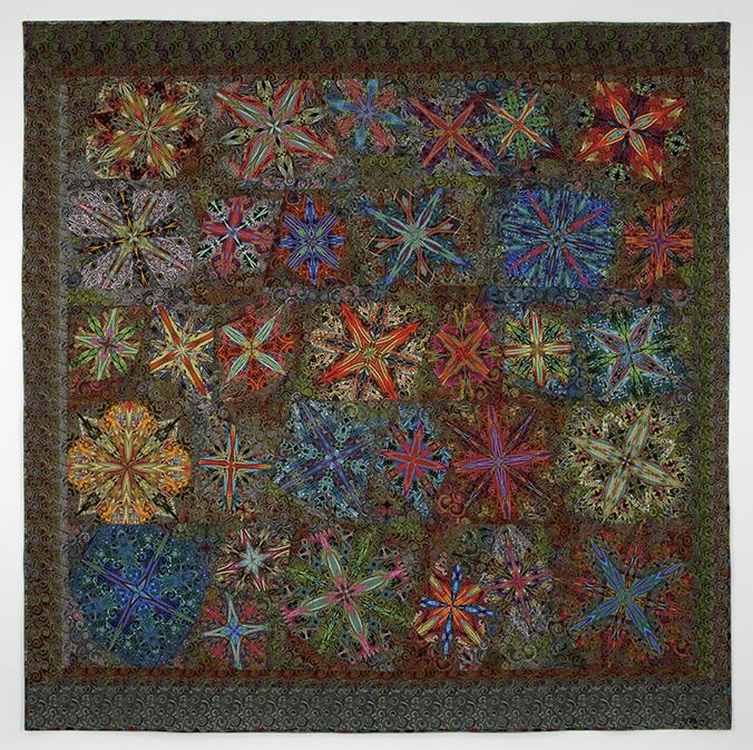 """KALEIDOSCOPIC XXXVIII: Millifiori, 82""""x 82"""", Paula Nadelstern (2013)"""