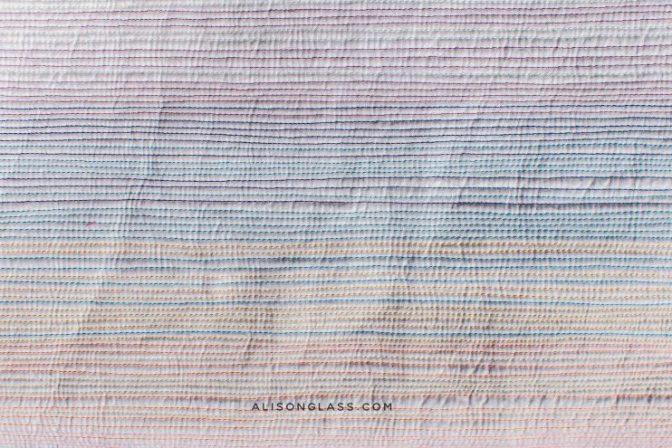 Matchstick Quilt Straight line quilting