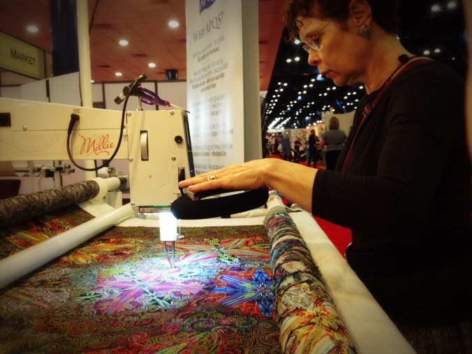 Paula at 2013 Quilt Market in Houston