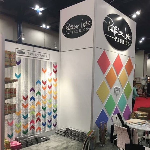 Basically Patrick colors on display at Quilt Market in Houston, Fall 2017