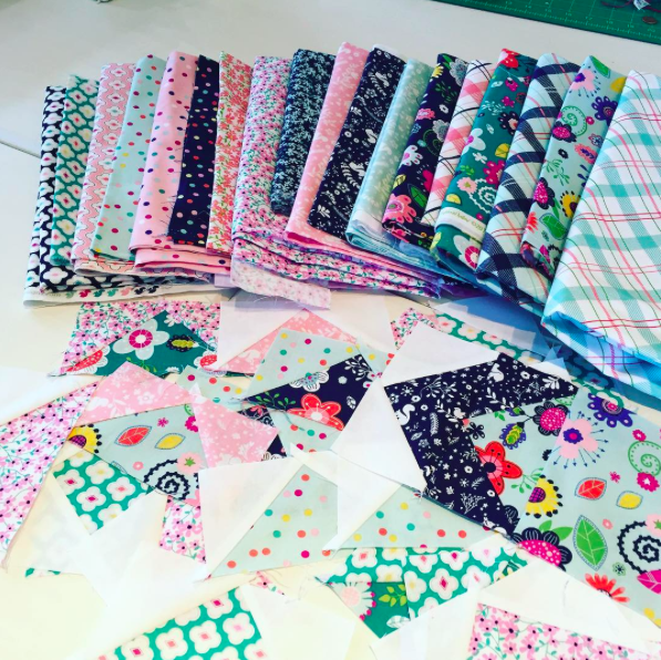 Samples of the Enchanted fabrics