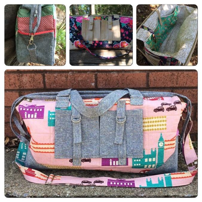 The Betsy Travel Bag (pattern available on Craftsy)