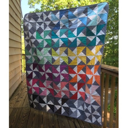 Double Pinwheel Quilt by Kristi McDonough (pattern coming soon!)