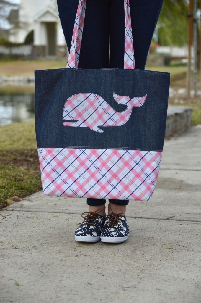 Preppy Plaid Tote Bag by Jedi Craft Girl