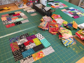 A quilt in progress
