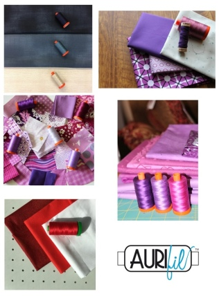 Aurifil 2017 Designers of the month fabrics