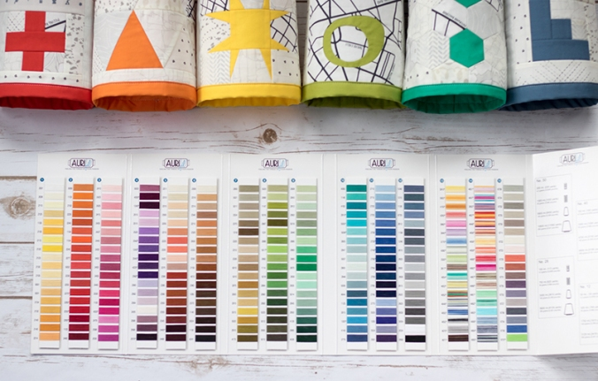 while the benefit of having easy access to color swatches for color matching might be obvious finding the bravery to make the first cut can be difficult - Aurifil Thread Color Chart