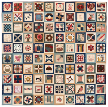 Showcase Quilt from The Splendid Sampler