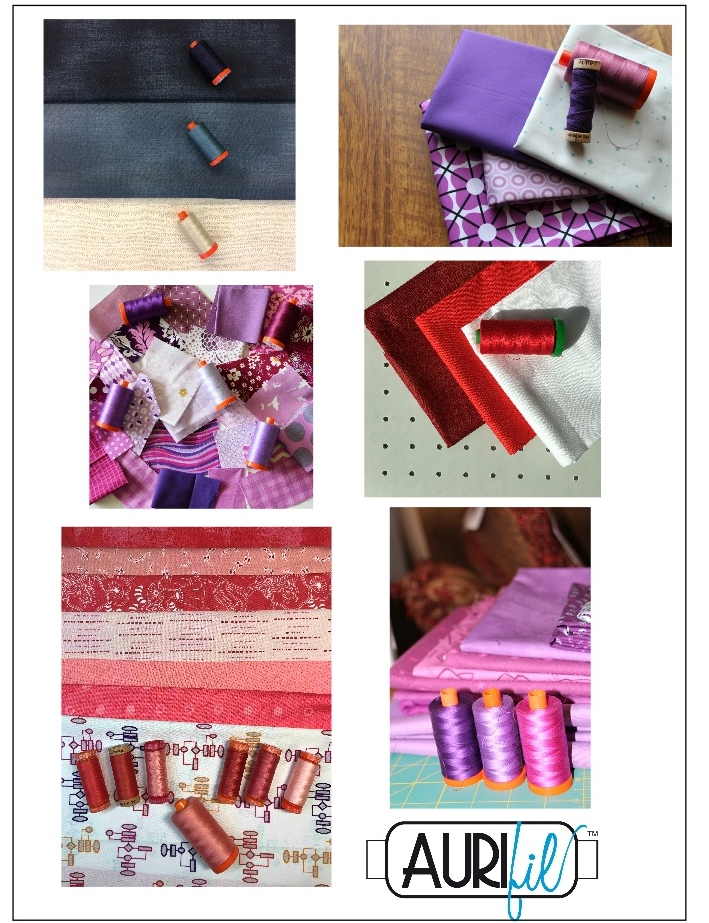 Aurifil 2017 Designers of the month fabrics june.JPG