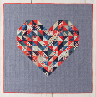 Hearts on Fire from Weekend Quilting by Jemima Flendt