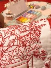 Redwork Embroidery by Darlene Zimmerman