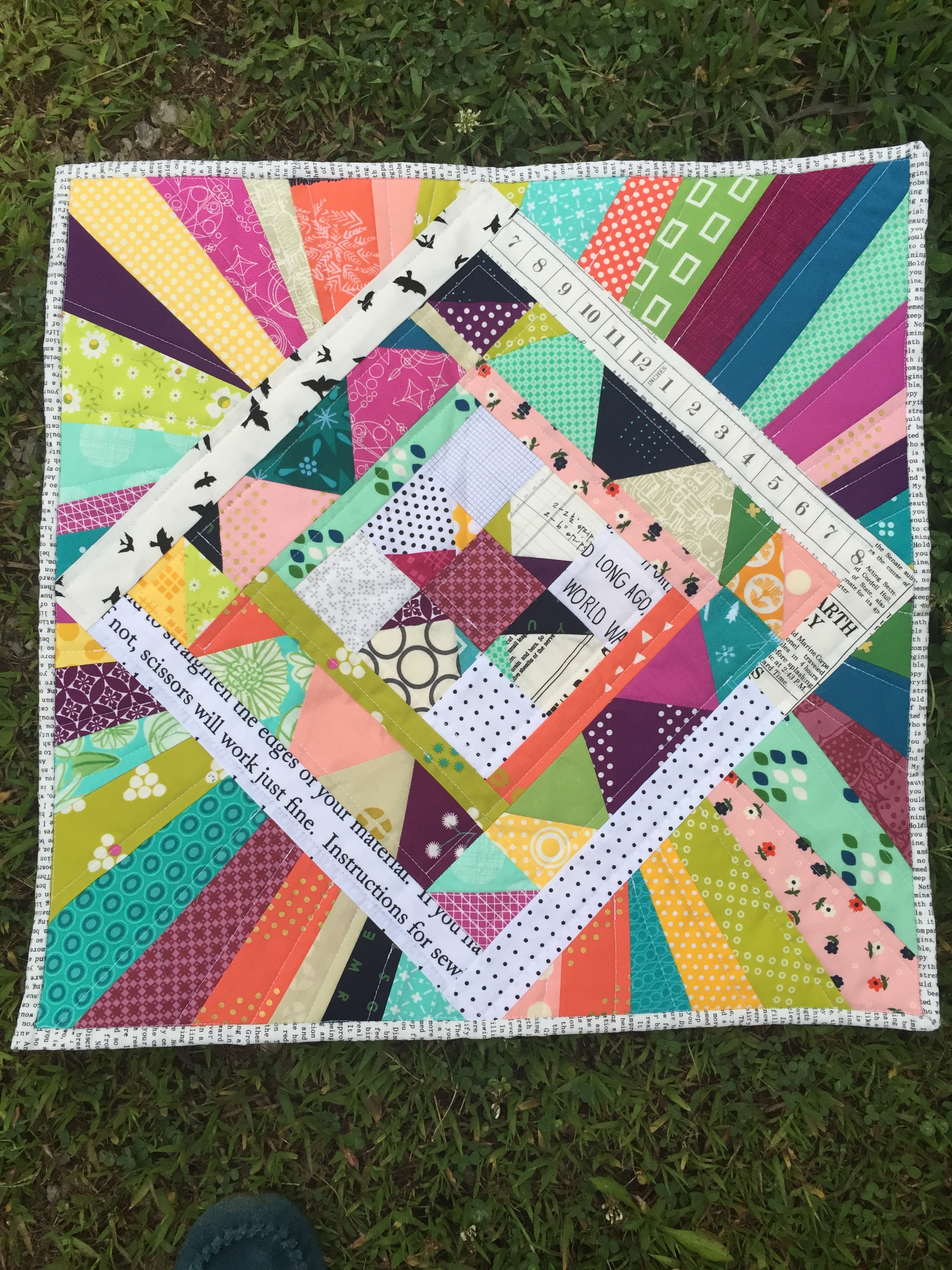 An improv mini quilt I made.JPG