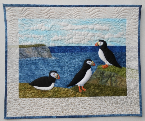 Three Puffy Puffins by Sheena Norquay