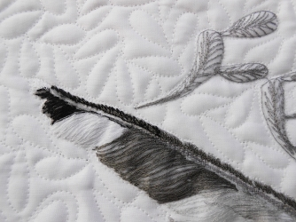 Detail of Five Feathers by Sheena Norquay