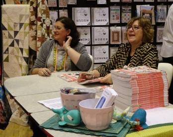 Jane Davidson and Pat Sloan -- Promoting their book, The Splendid Sampler