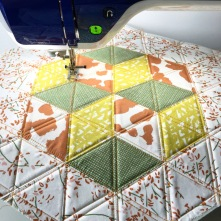 Made with Aurifil 2140 / Mustard