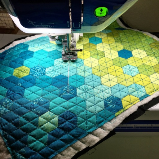Made with Aurifil 2810 / Turquoise