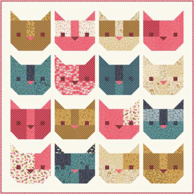 Here Kitty Kitty by Stacy Iest Hsu -- To see more, check out Woof Woof Meow at Moda