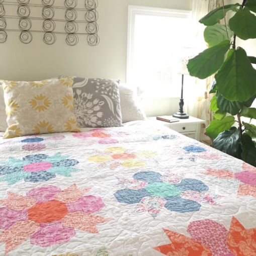 Morning Glory Quilt by @katespain - Early Bird Fabrics