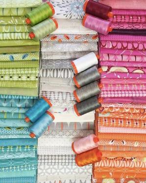 Flow fabrics & threads -- photos by Richy Jr. via @zenchicmoda