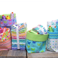 Two Fat Quarter Bucket Pattern by Me & My Sister Designs - @meandmysisterdesigns