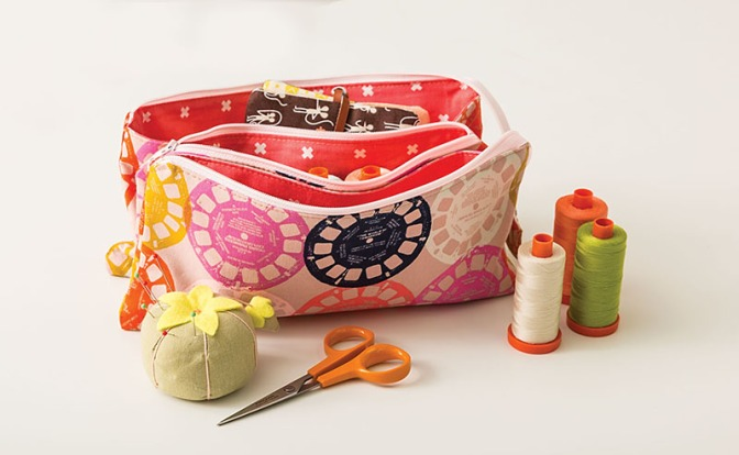 Triple Pouch from Stitched Sewing Organizers