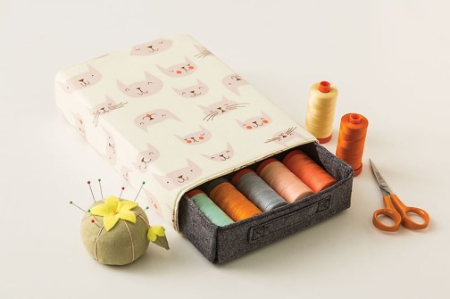 Sliding Box from Stitched Sewing Organizers