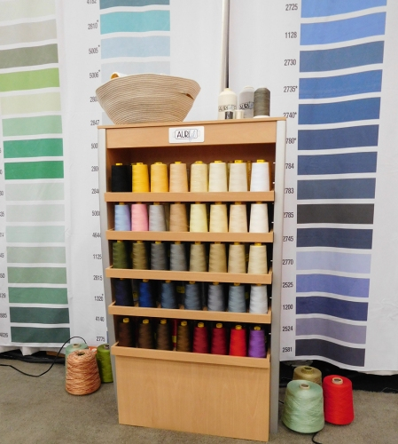 A gorgeous display of Aurifil's new Forty3, a 40wt 3-ply Longarm thread