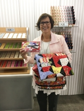 Jill Finley with her new collection Quilter's Palette