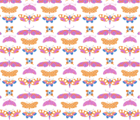 Patterned Papillons by KayaJoy
