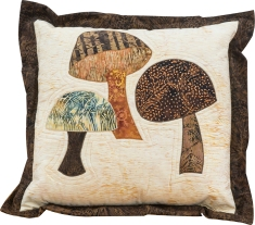 Morels + More Pillow by Nan Baker, Purrfect Spots