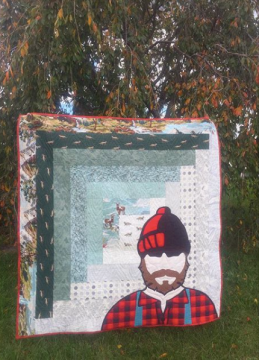 Lumberjack Quilt by Sarah Thomas of Sariditty