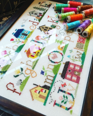 Gwen's epic cross-stitch sampler